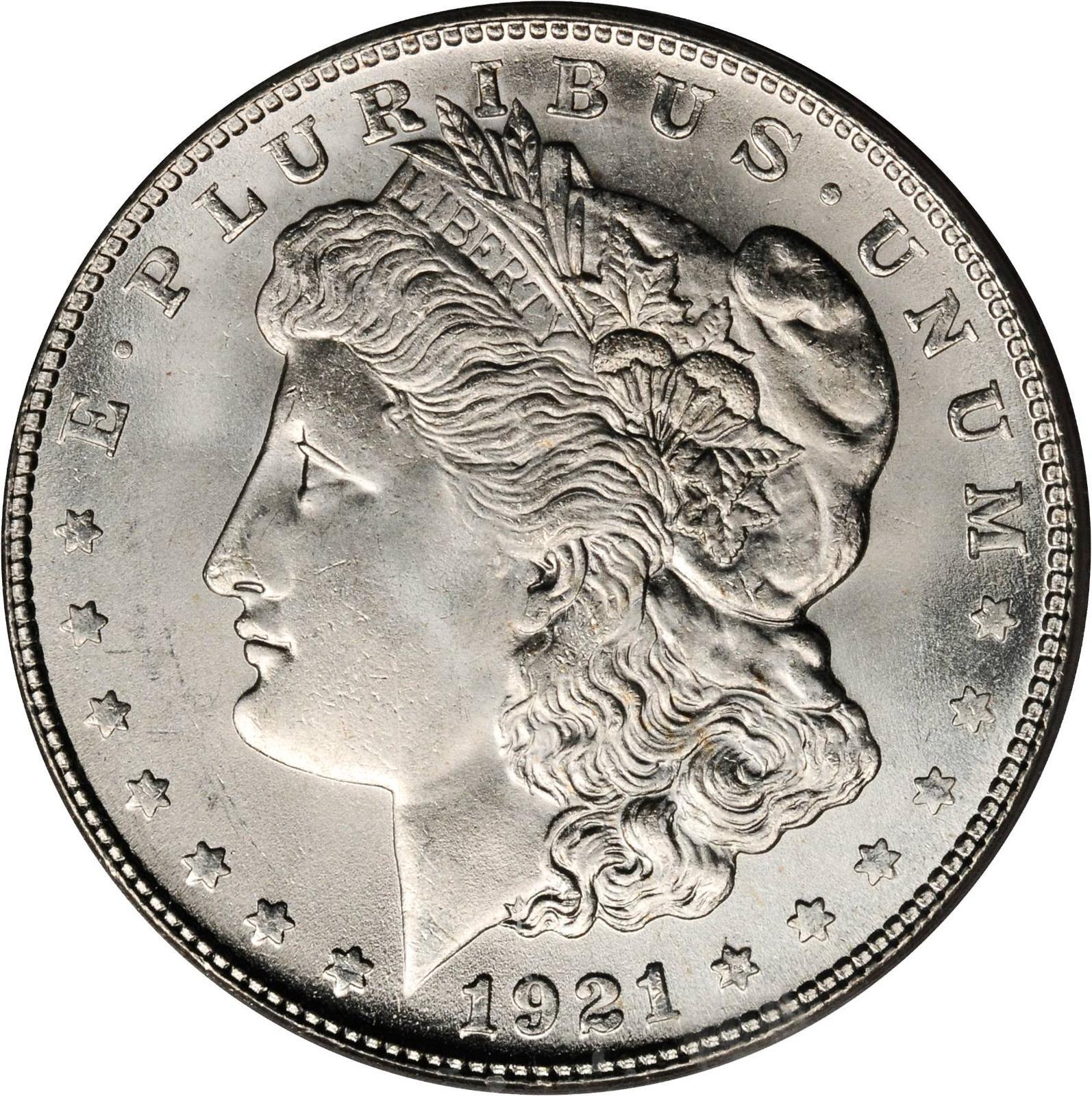 1921 Morgan Silver Dollar Super High Grade MS++++