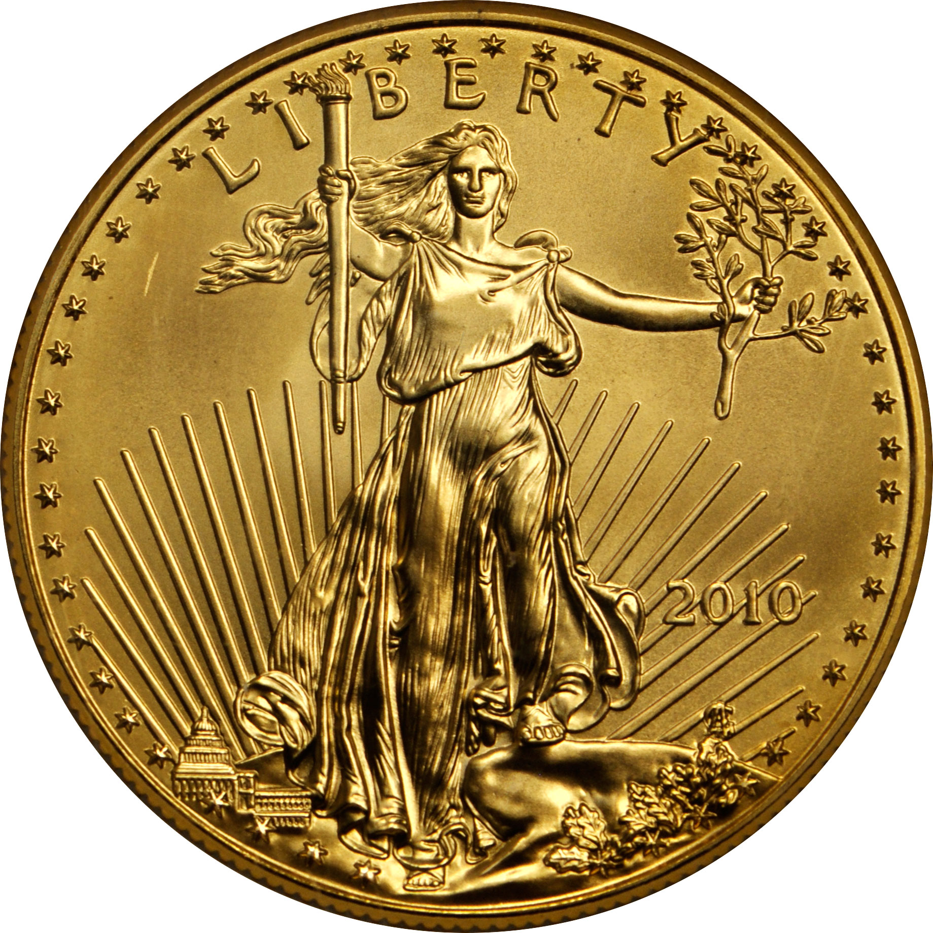 What Is A Gold Dollar Coin Worth: Sell .10 OZ American Gold Eagle