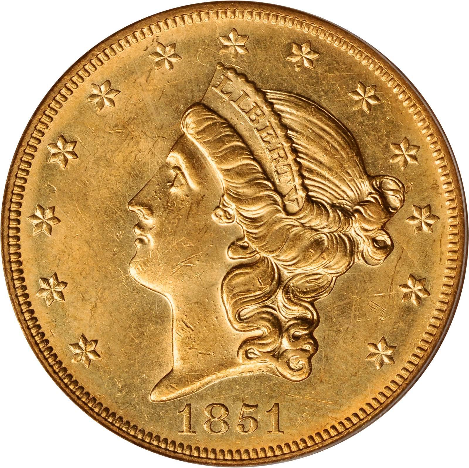Value of 1851-O $20 Liberty Double Eagle | Sell Rare Coins