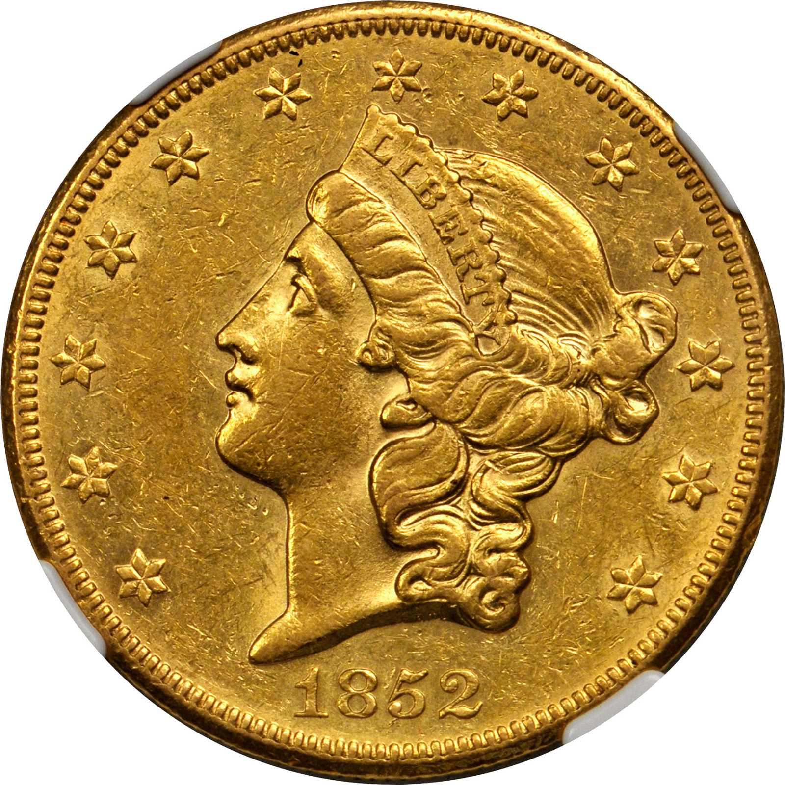Value Of 1852 O 20 Liberty Double Eagle Sell Rare Coins