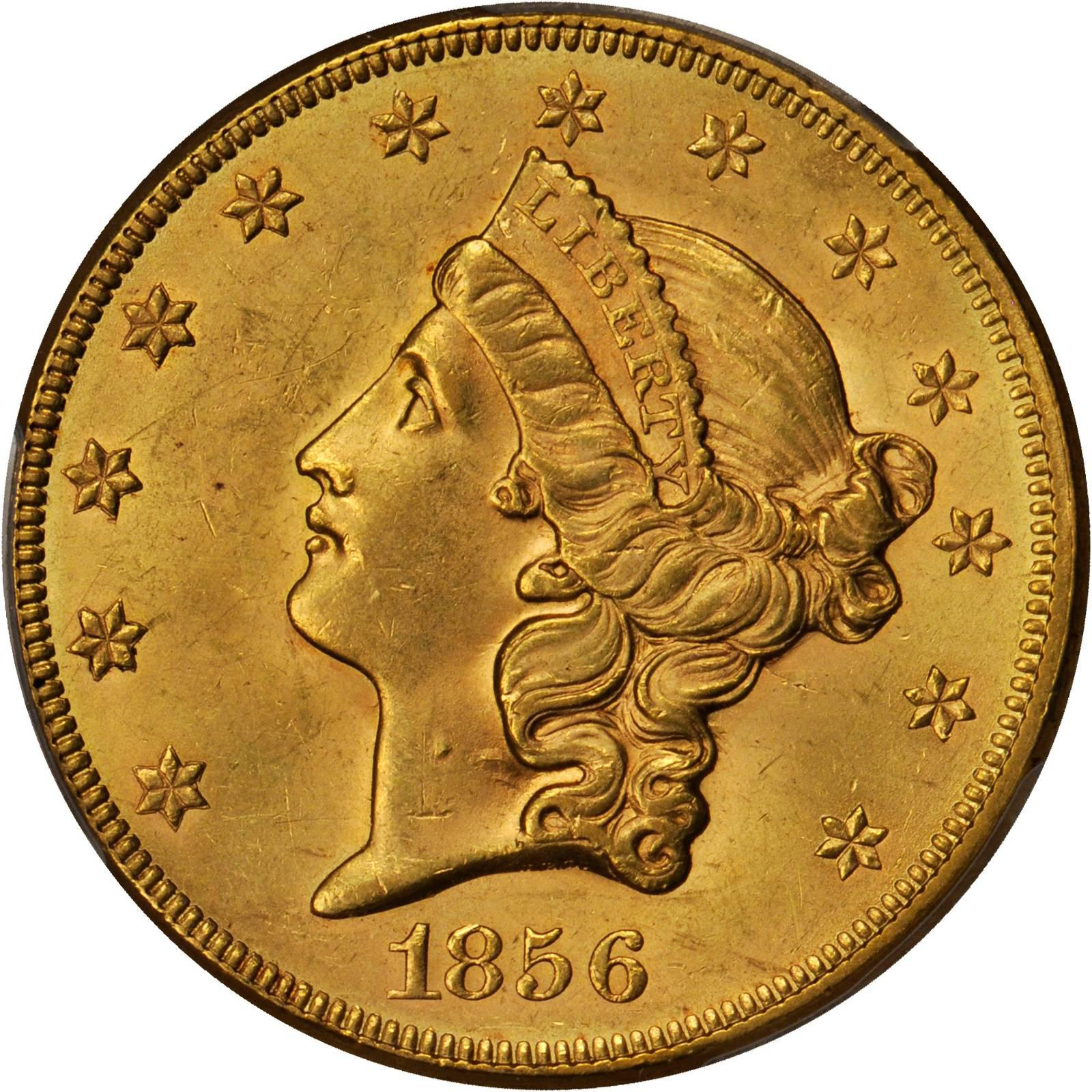 Value Of 1856 20 Liberty Double Eagle Sell Rare Coins