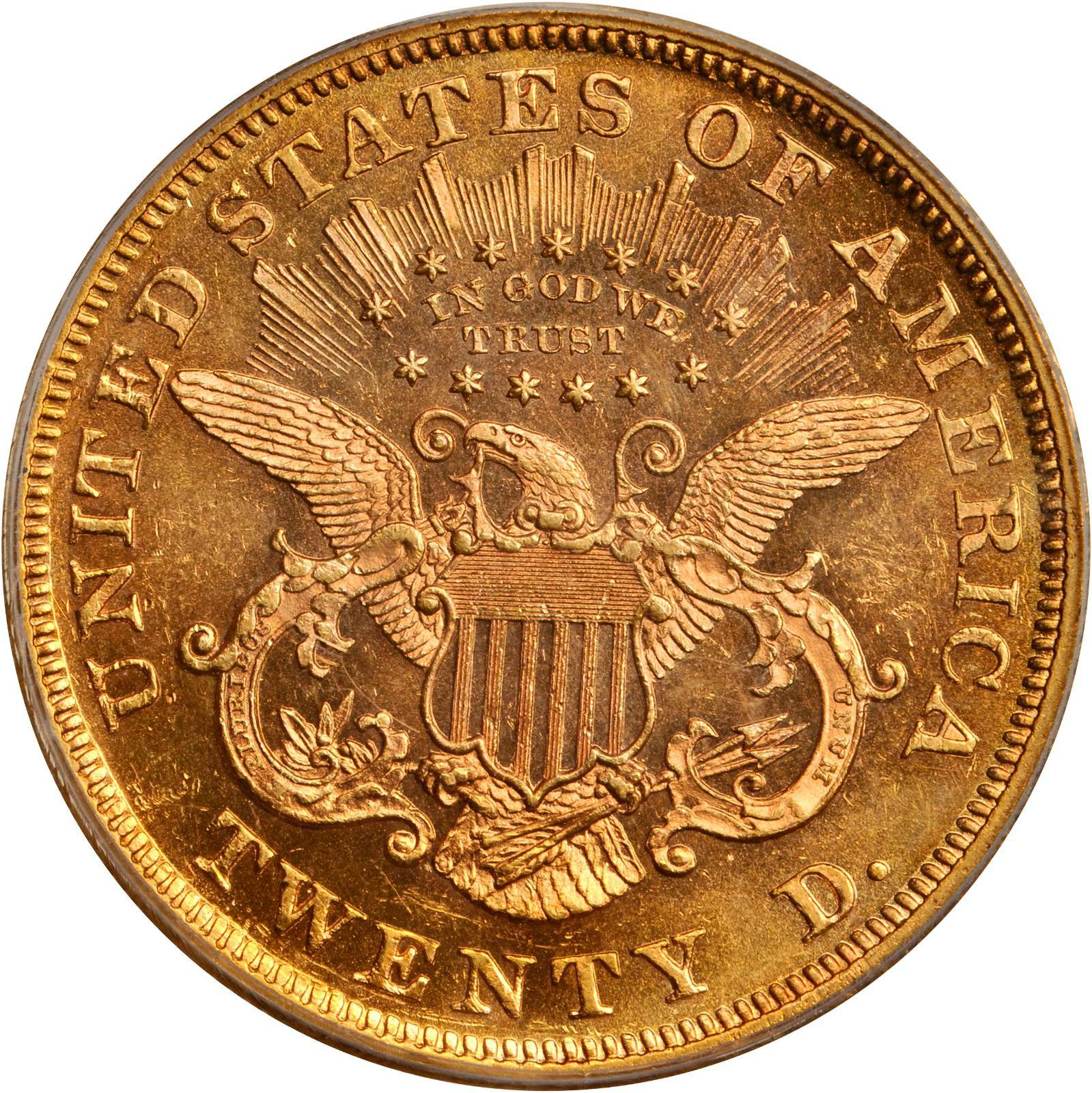 Value Of 1866 20 Liberty Double Eagle Sell Rare Coins