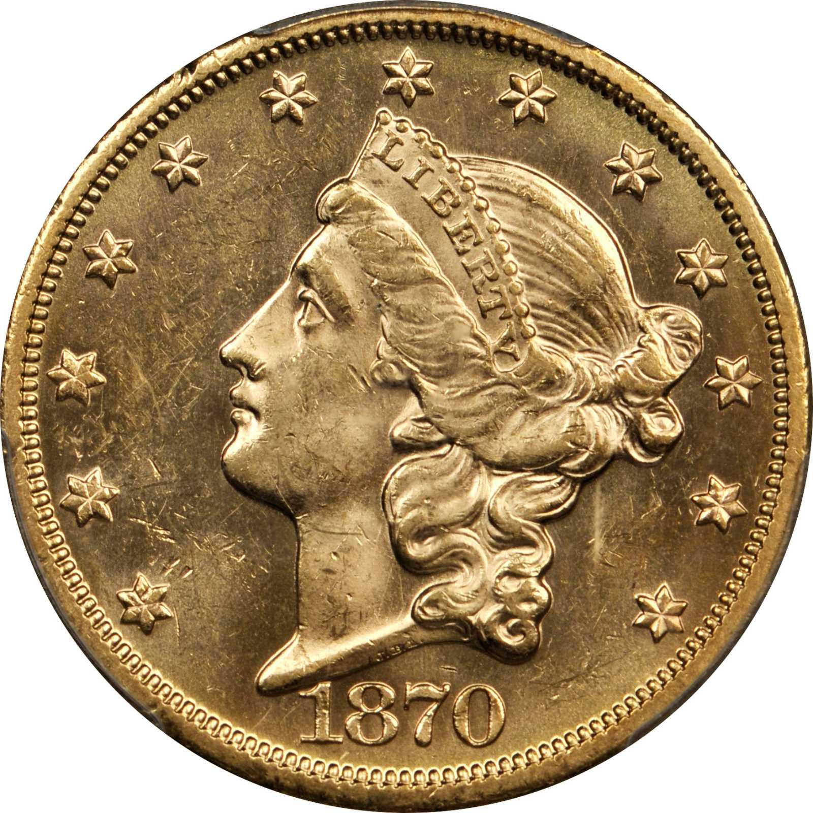 Value Of 1870 S 20 Liberty Double Eagle Sell Rare Coins