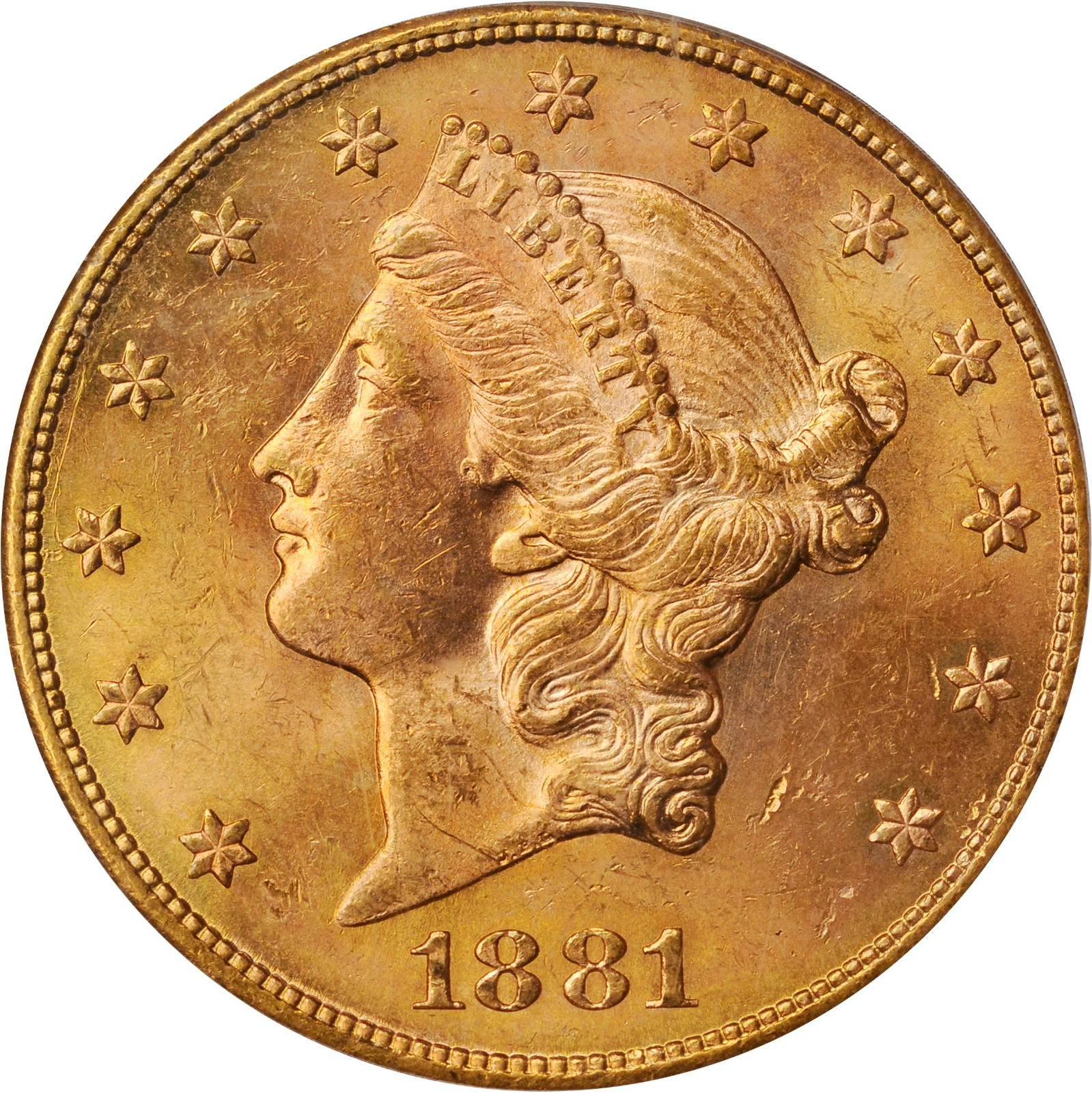 Value Of 1881 S 20 Liberty Double Eagle Sell Rare Coins