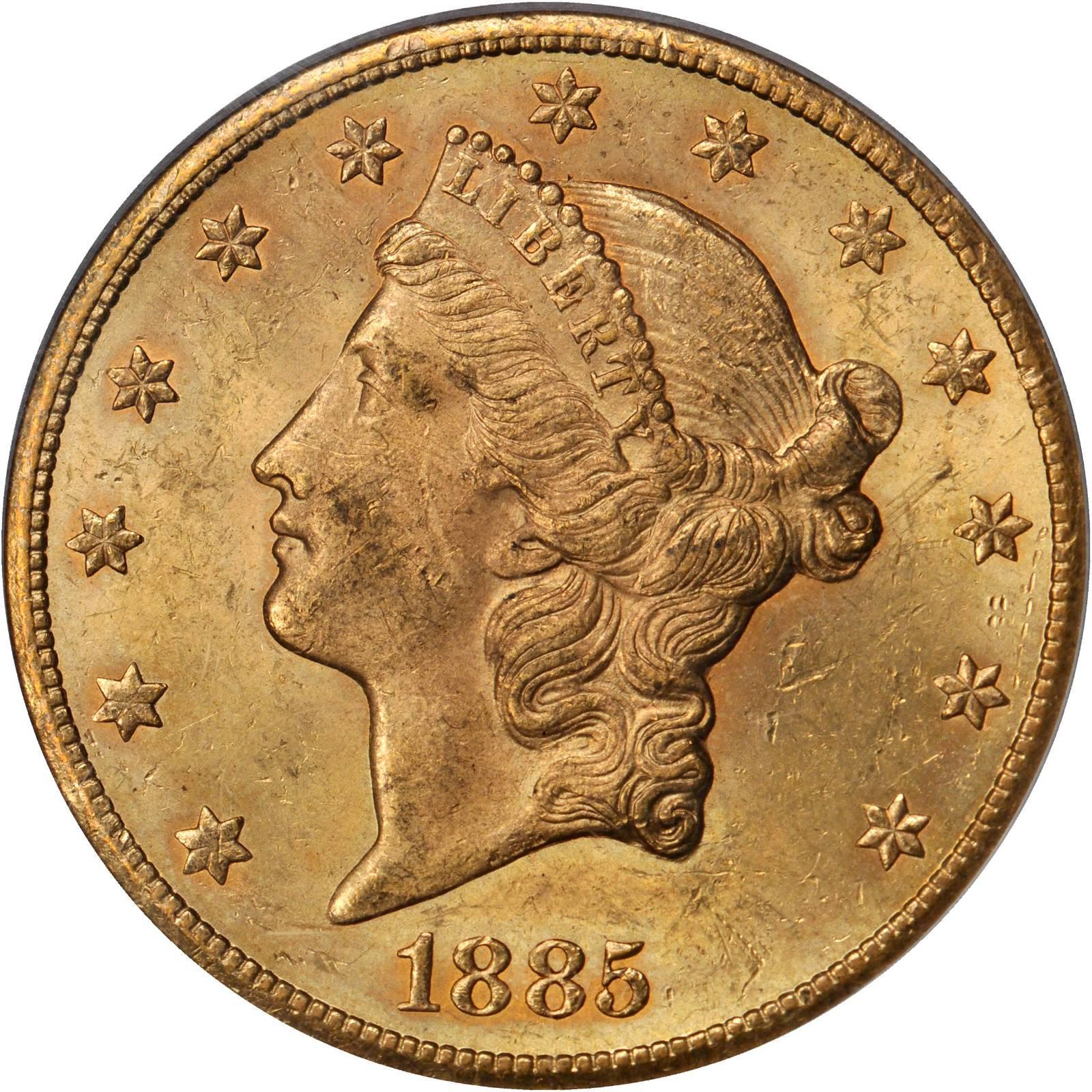1885 ten dollar gold coin