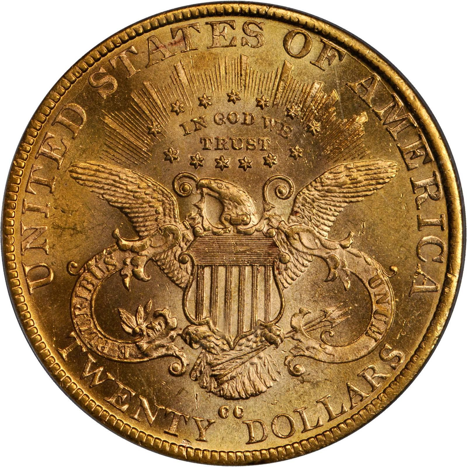 Value Of 1890 Cc 20 Liberty Double Eagle Sell Rare Coins