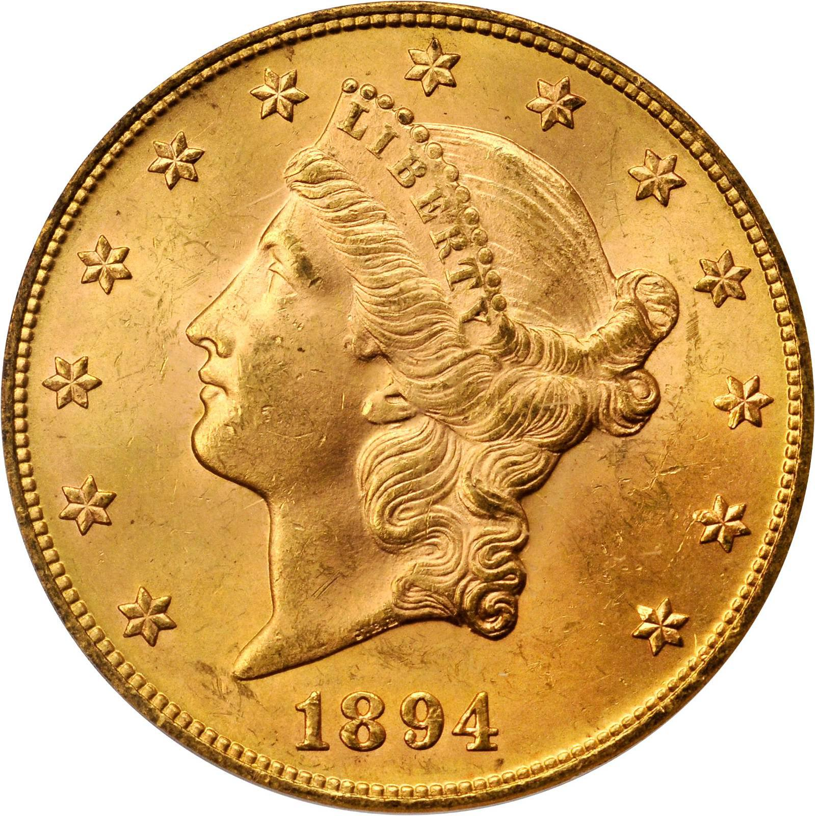 Value Of 1894 20 Liberty Double Eagle Sell Rare Coins
