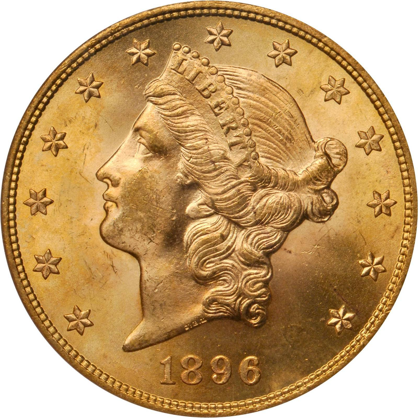 Value Of 1896 20 Liberty Double Eagle Sell Rare Coins