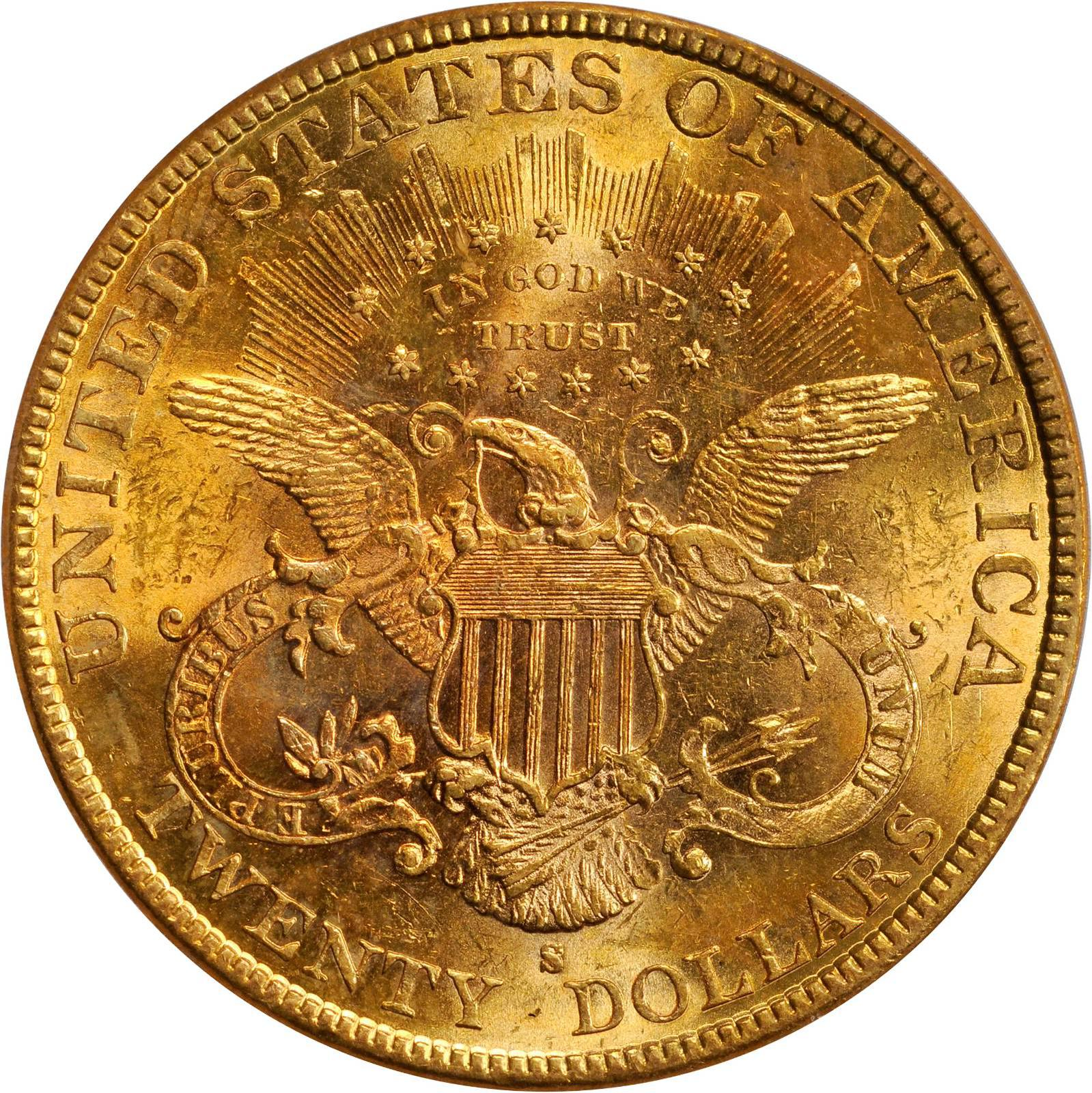 Value Of 1896 S 20 Liberty Double Eagle Sell Rare Coins