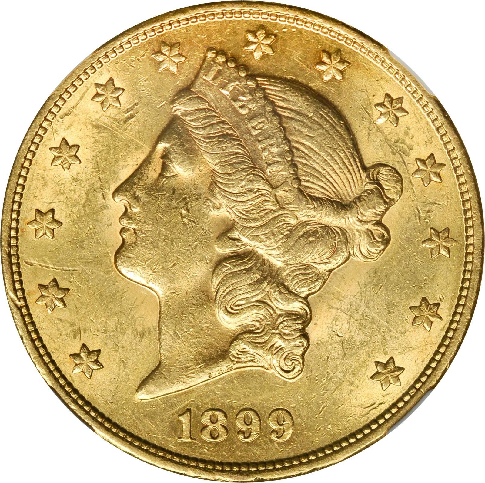 Value Of 1899 S 20 Liberty Double Eagle Sell Rare Coins