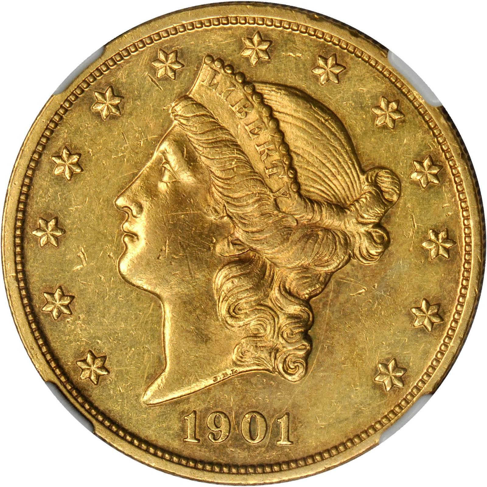 Value Of 1901 20 Liberty Double Eagle Sell Rare Coins
