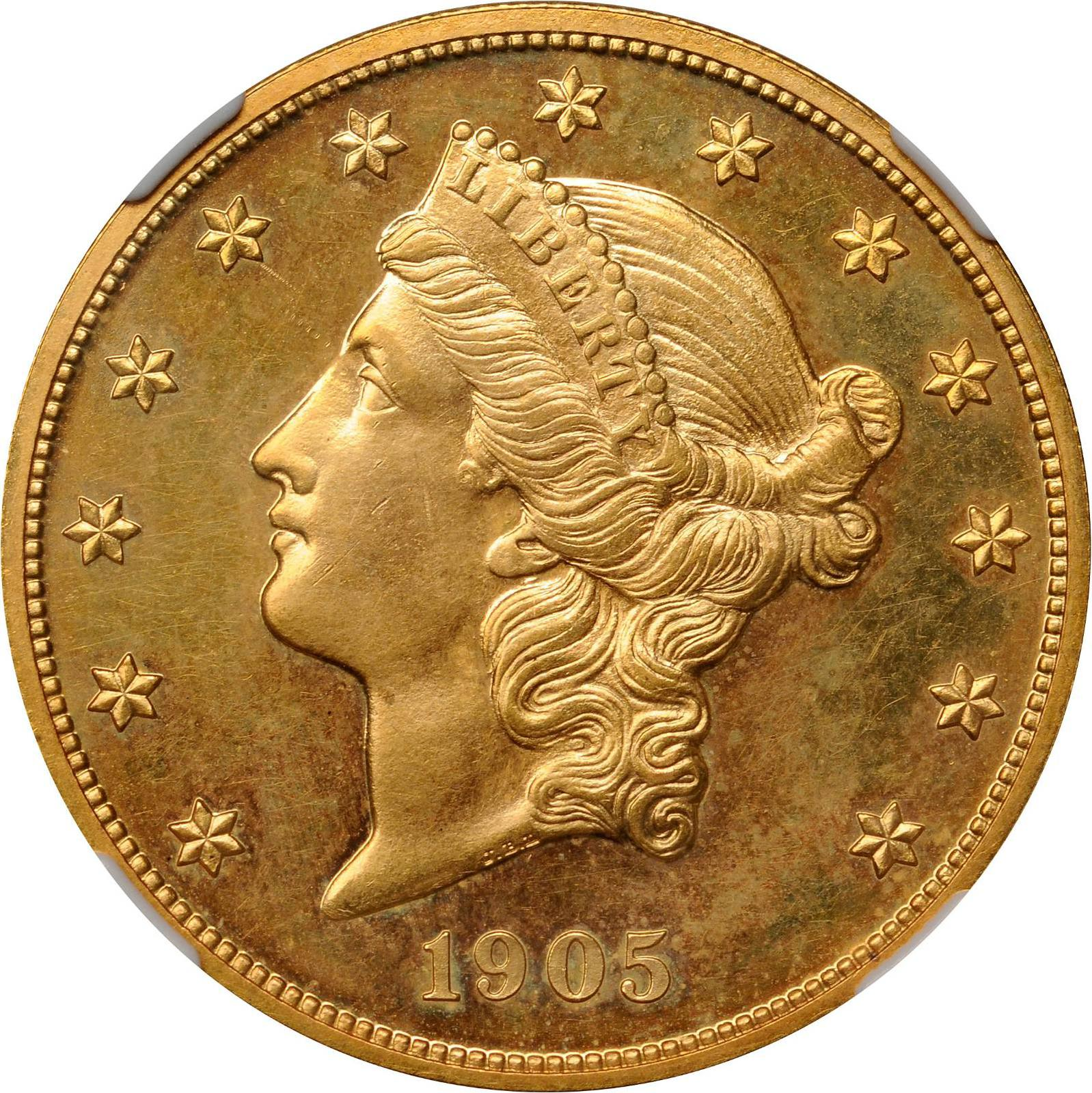 Value Of 1905 $20 Liberty Double Eagle