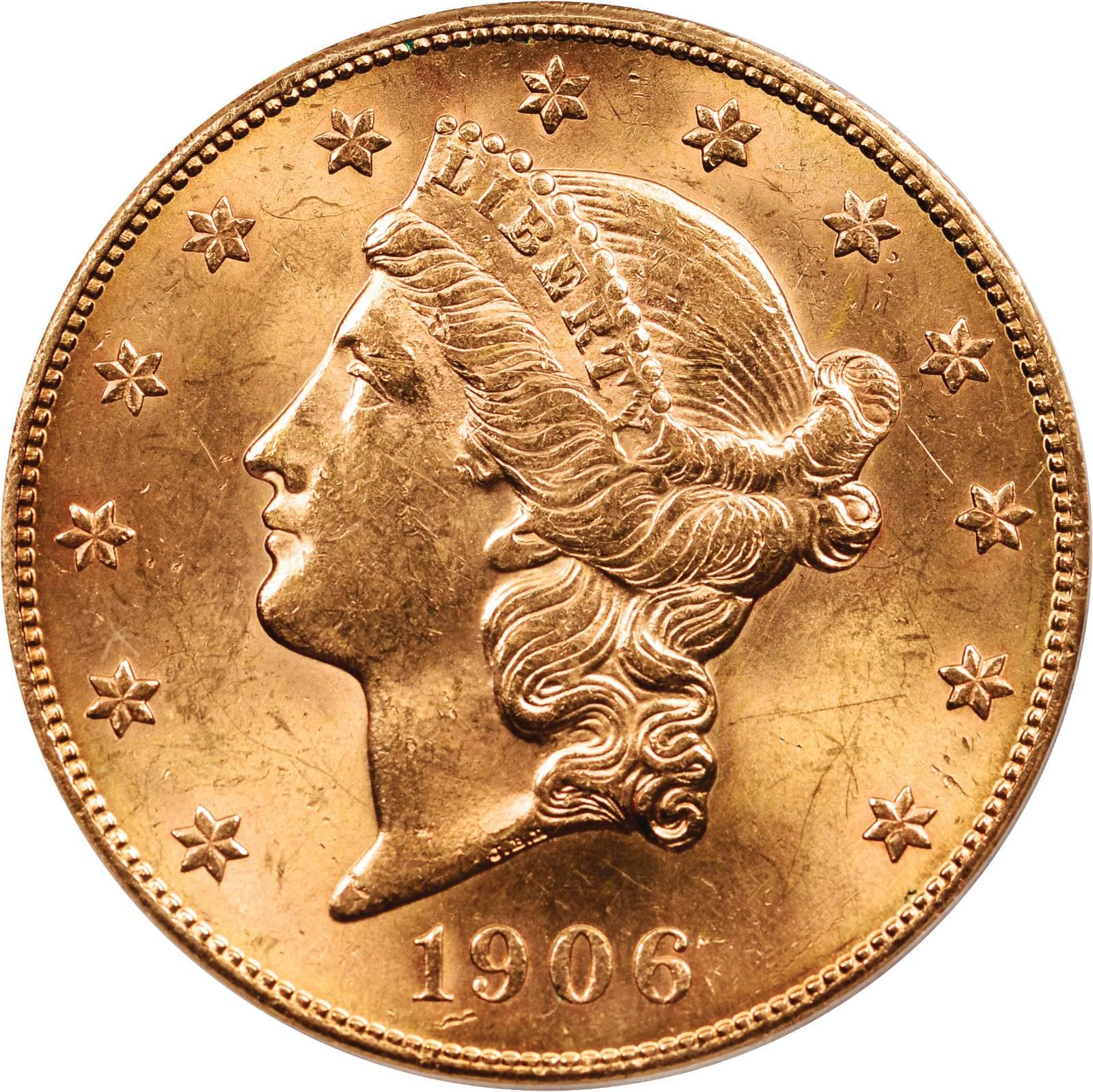 Value of 1906-S $20 Liberty Double Eagle | Sell Rare Coins