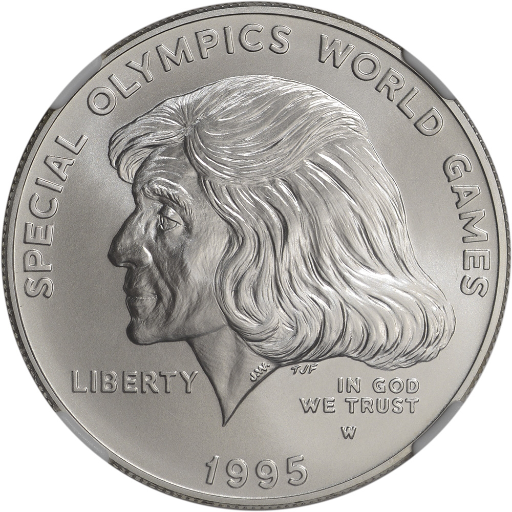 Value Of 1995 1 Special Olympics Silver Coin Sell Coins