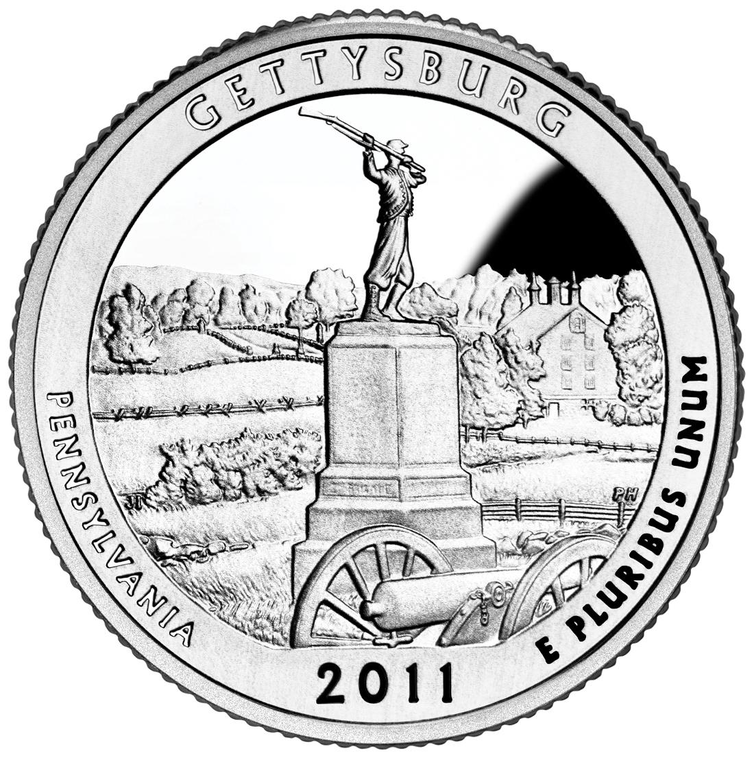 2011 Gettysburg National Park Quarter Sell Silver Quarters