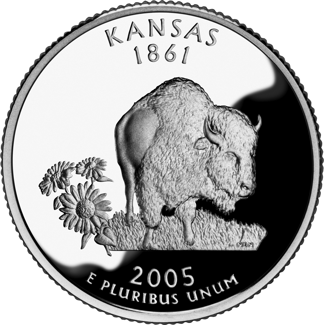 2005 Kansas State Quarter | Sell Silver State Quarters