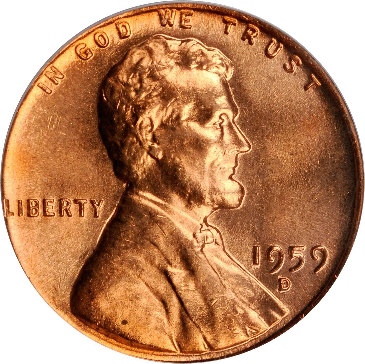 Value of 1959-D Lincoln Cents | We Appraise Modern Coins