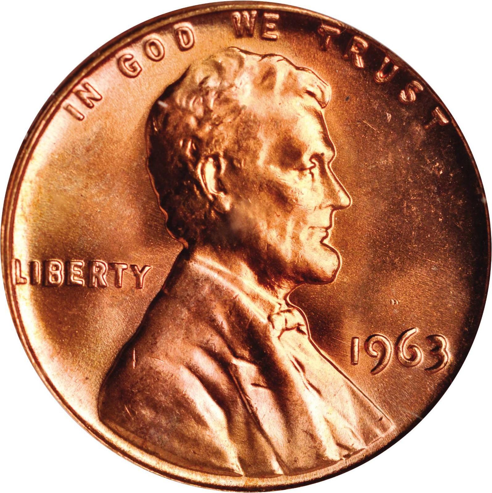 Value of 1963 Lincoln Cents | We Appraise Modern Coins