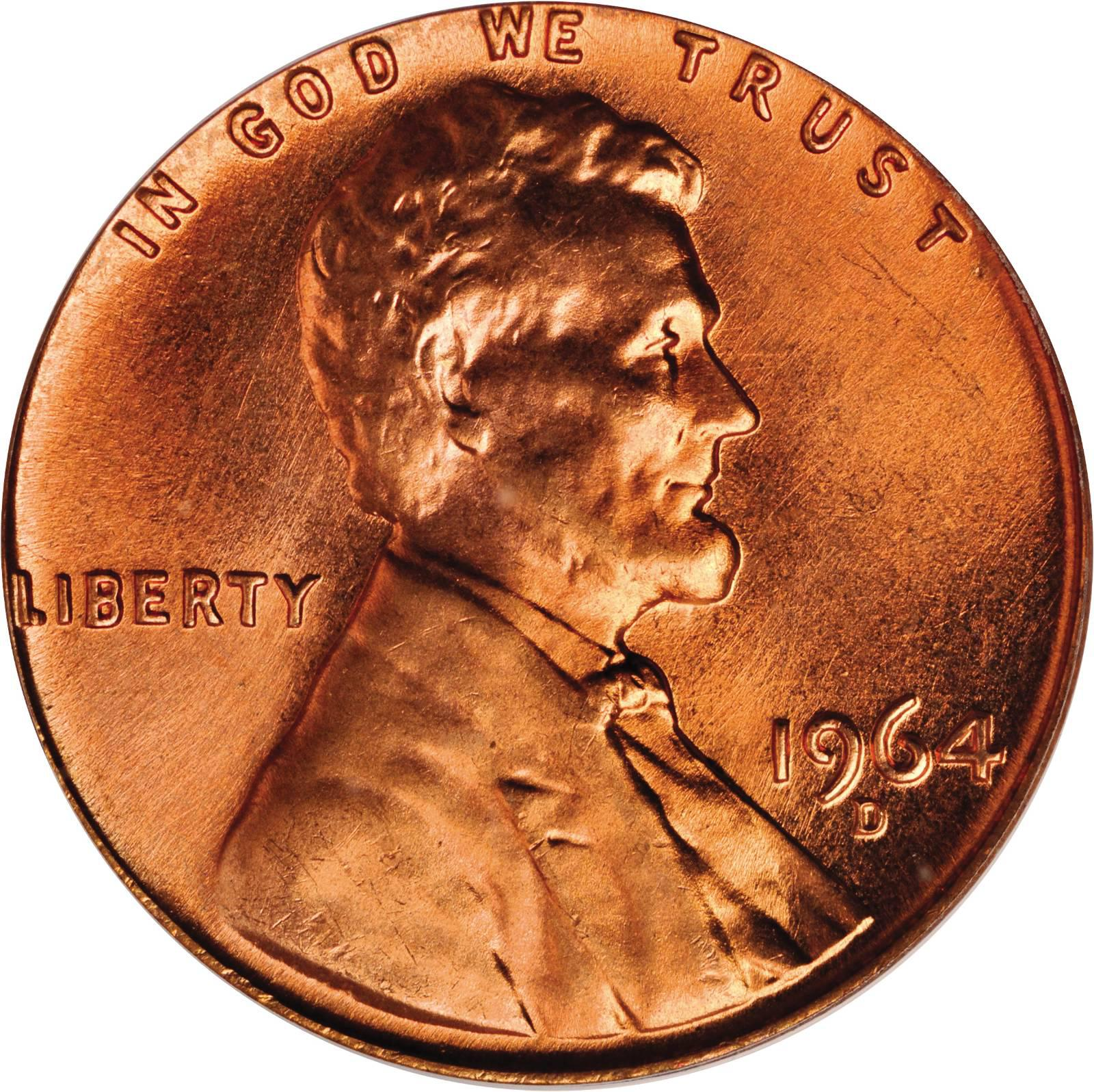 Value of 1964-D Lincoln Cents | We Appraise Modern Coins