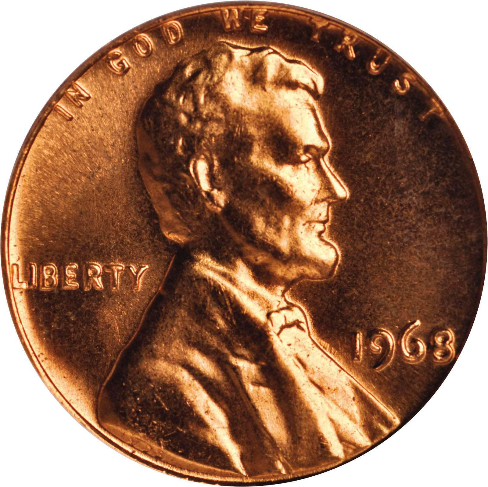 Value Of 1968 Lincoln Memorial Cent