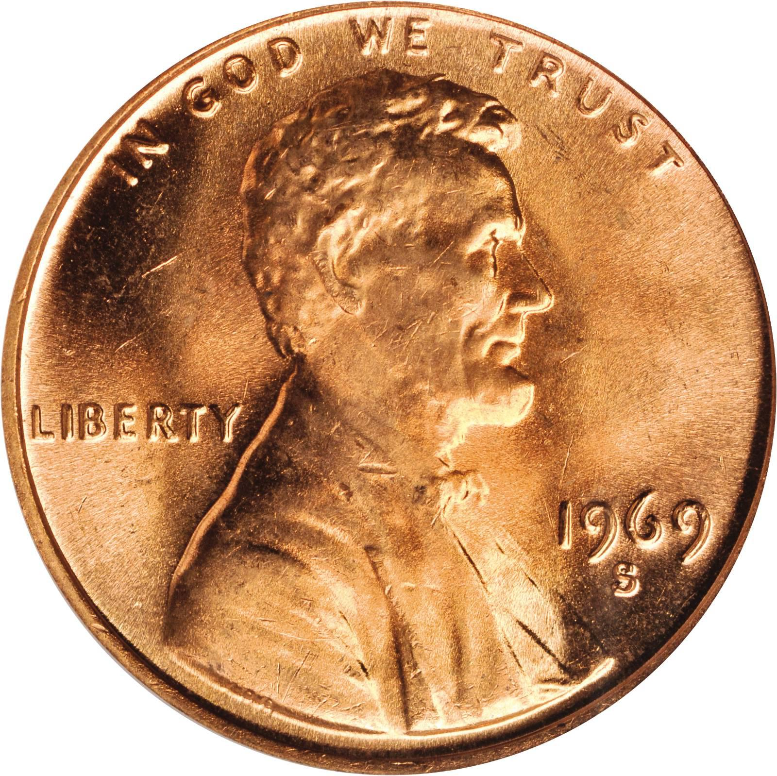 1969-S PROOF LINCOLN CENT