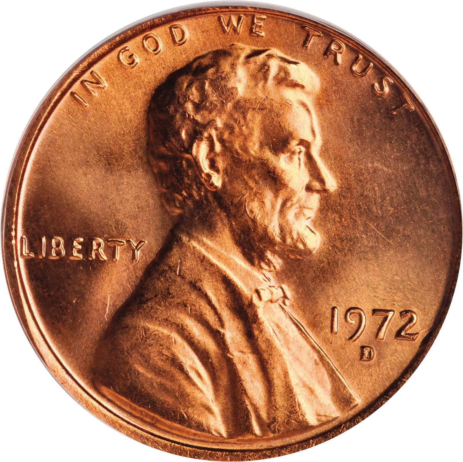 Value of 1972-D Lincoln Cents | We Appraise Modern Coins