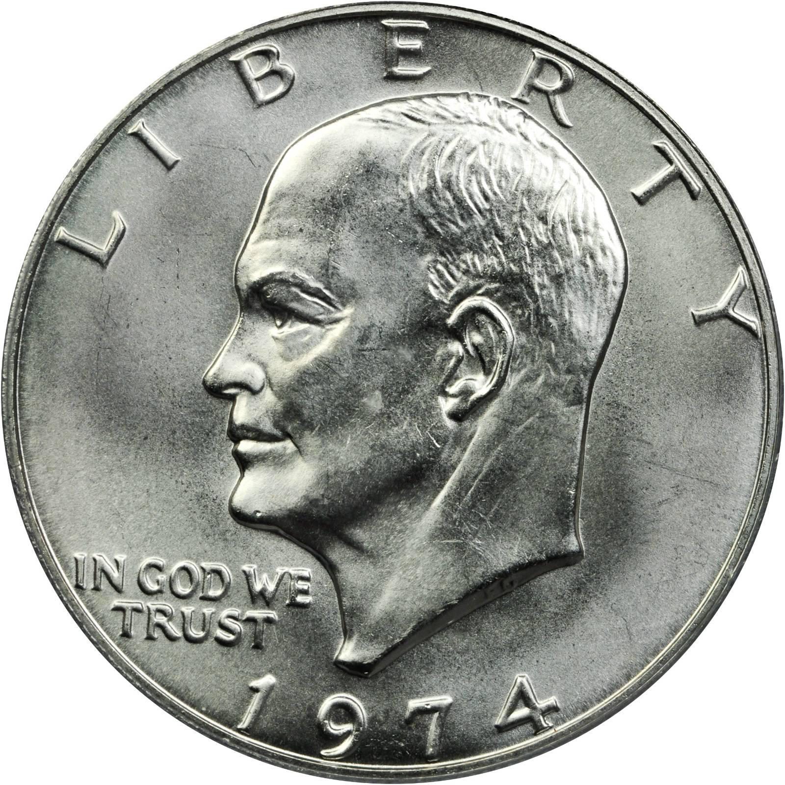 Value Of 1974 Eisenhower Dollar Sell Modern Coins
