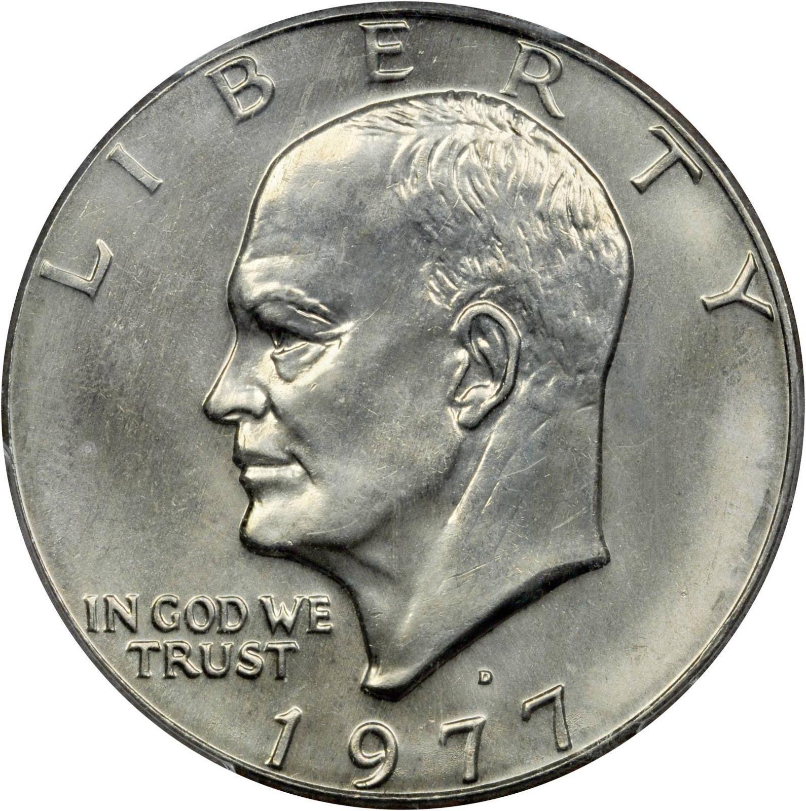 Value Of 1977 D Eisenhower Dollar Sell Modern Coins