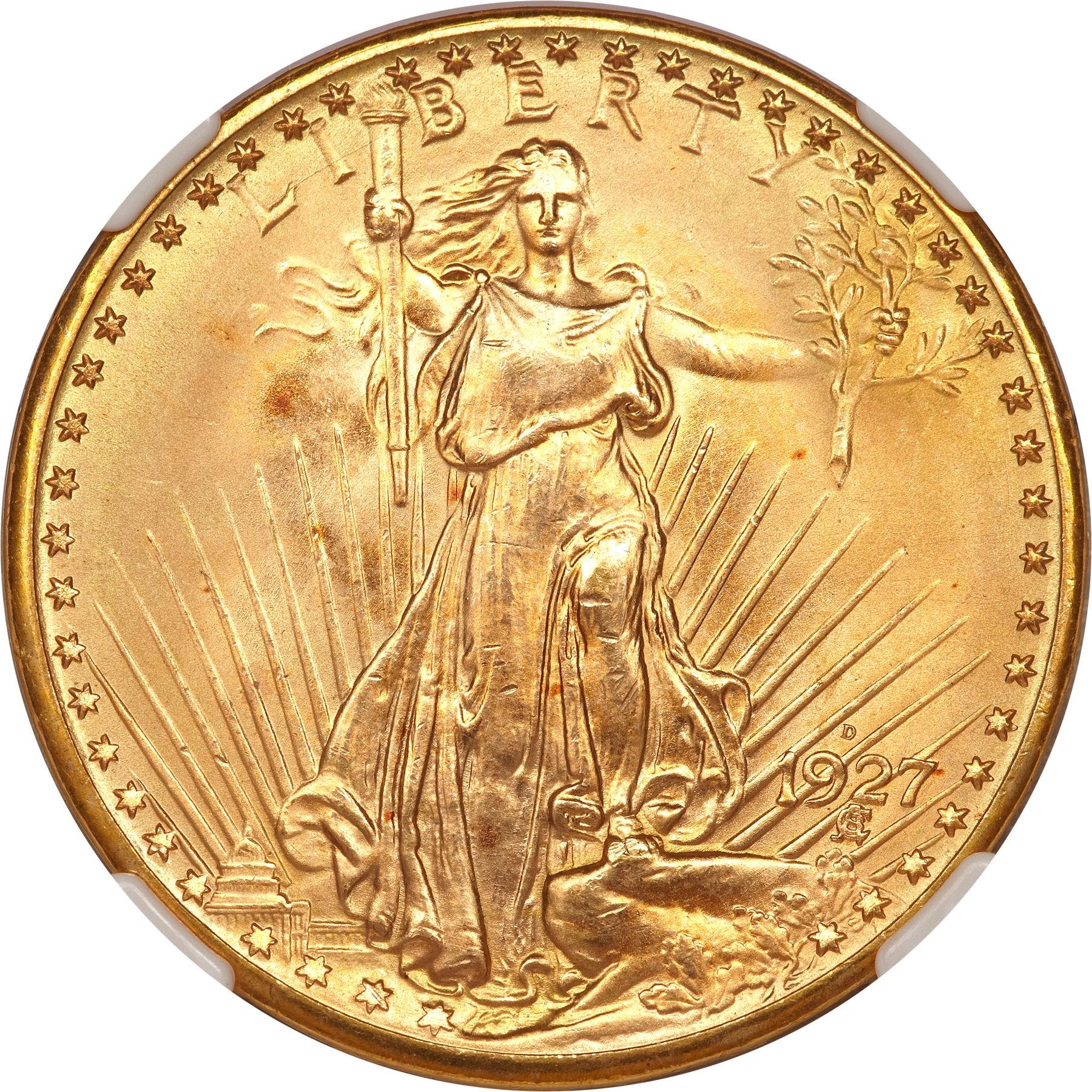 1927 D St Gaudens 20 Gold Sell Rare Gold Coins