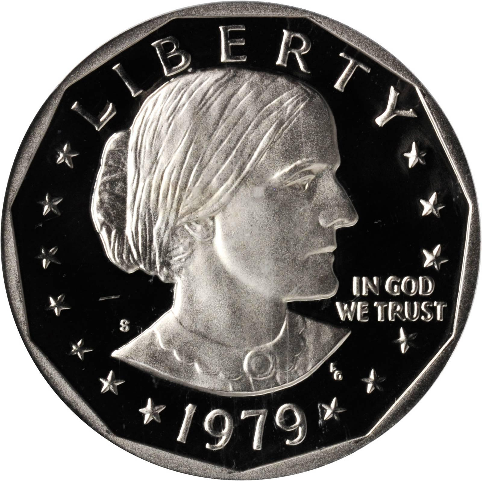 Value Of 1979 S Susan B Anthony Dollar Sell Modern Coins