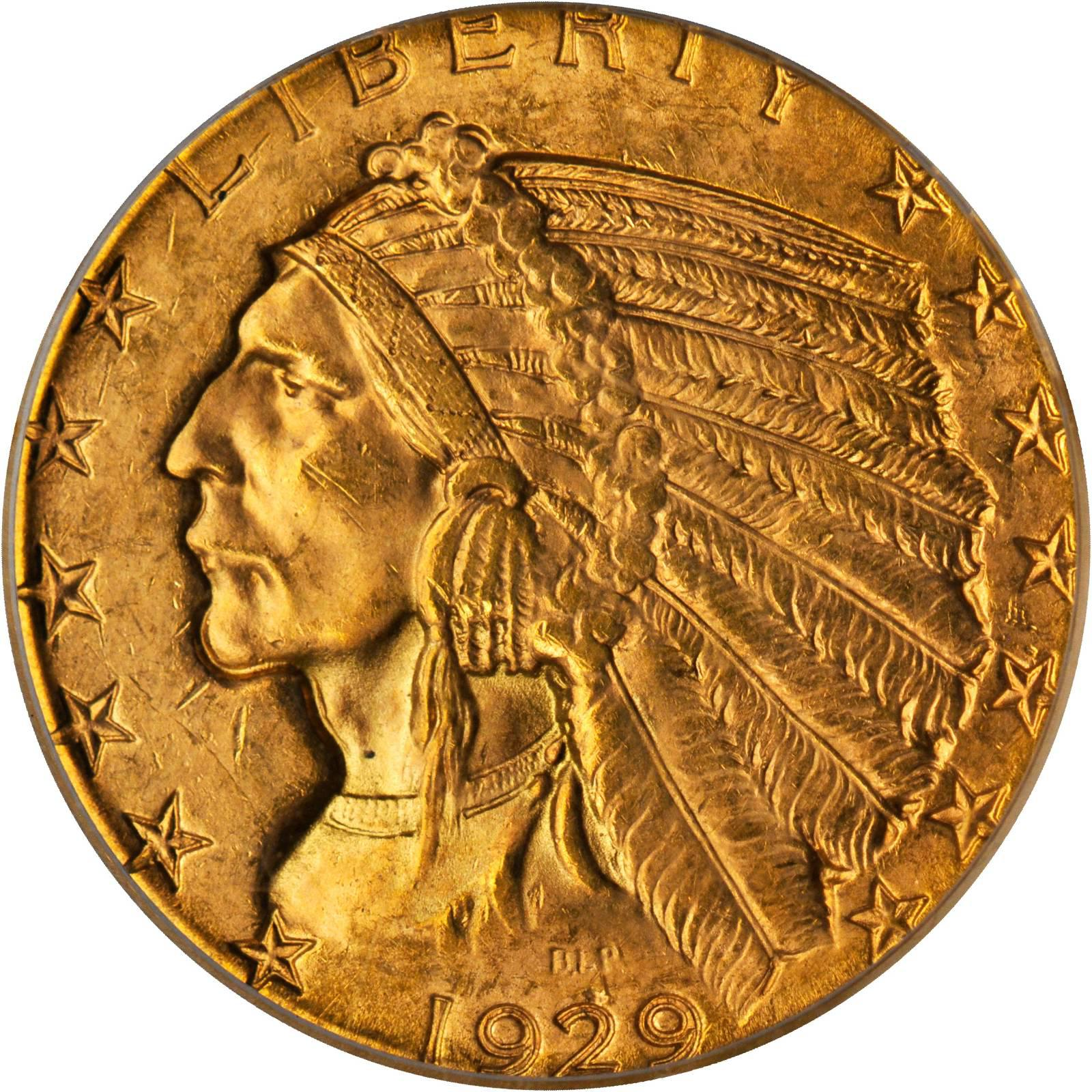 Value Of A 1929 Indian 5 Gold We Are Rare Coin Buyers