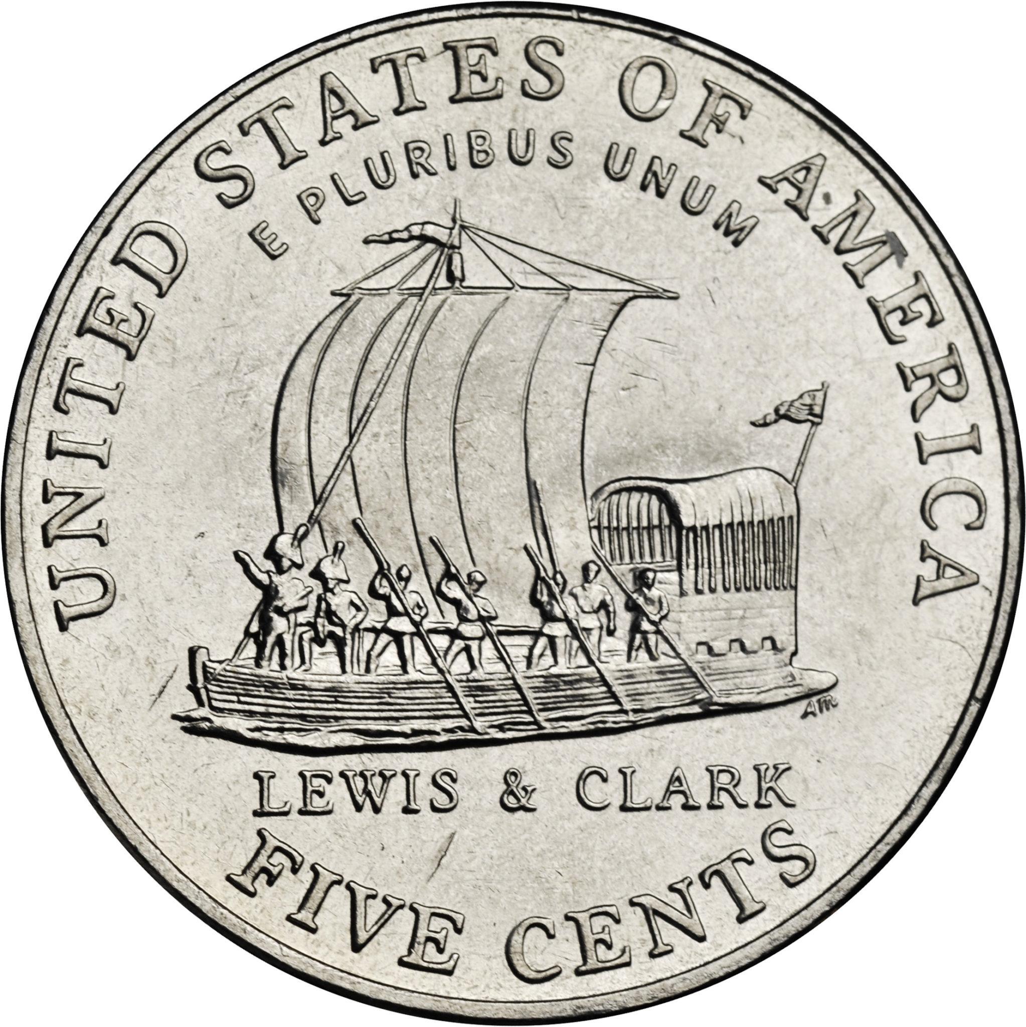 2004-D Keel Boat Westward Journey Nickel | Modern Coin Buyer