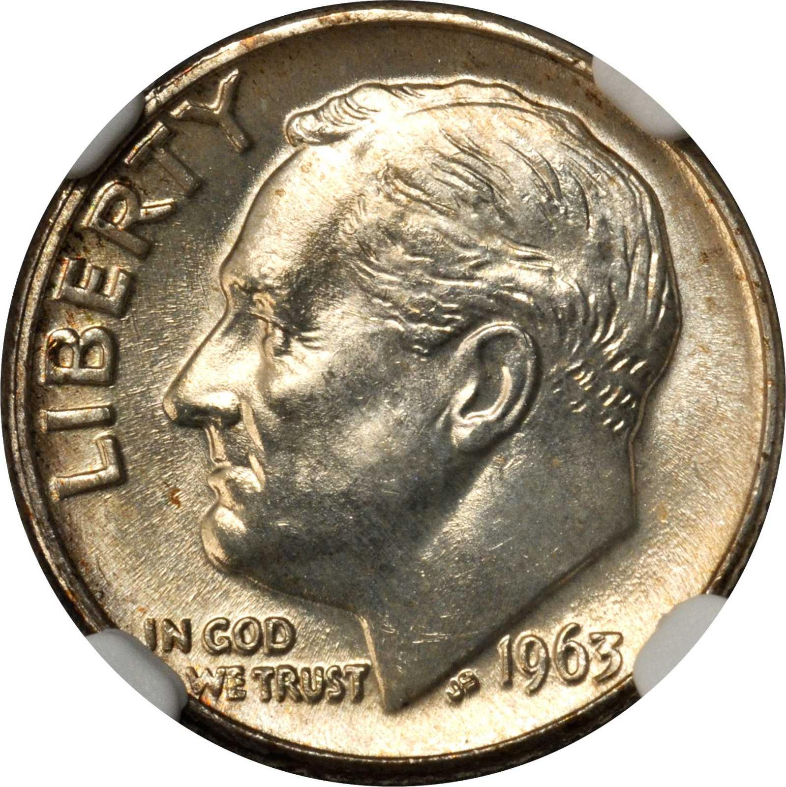 Value of 1963-D Dime | Sell and Auction, Rare Coin Buyers