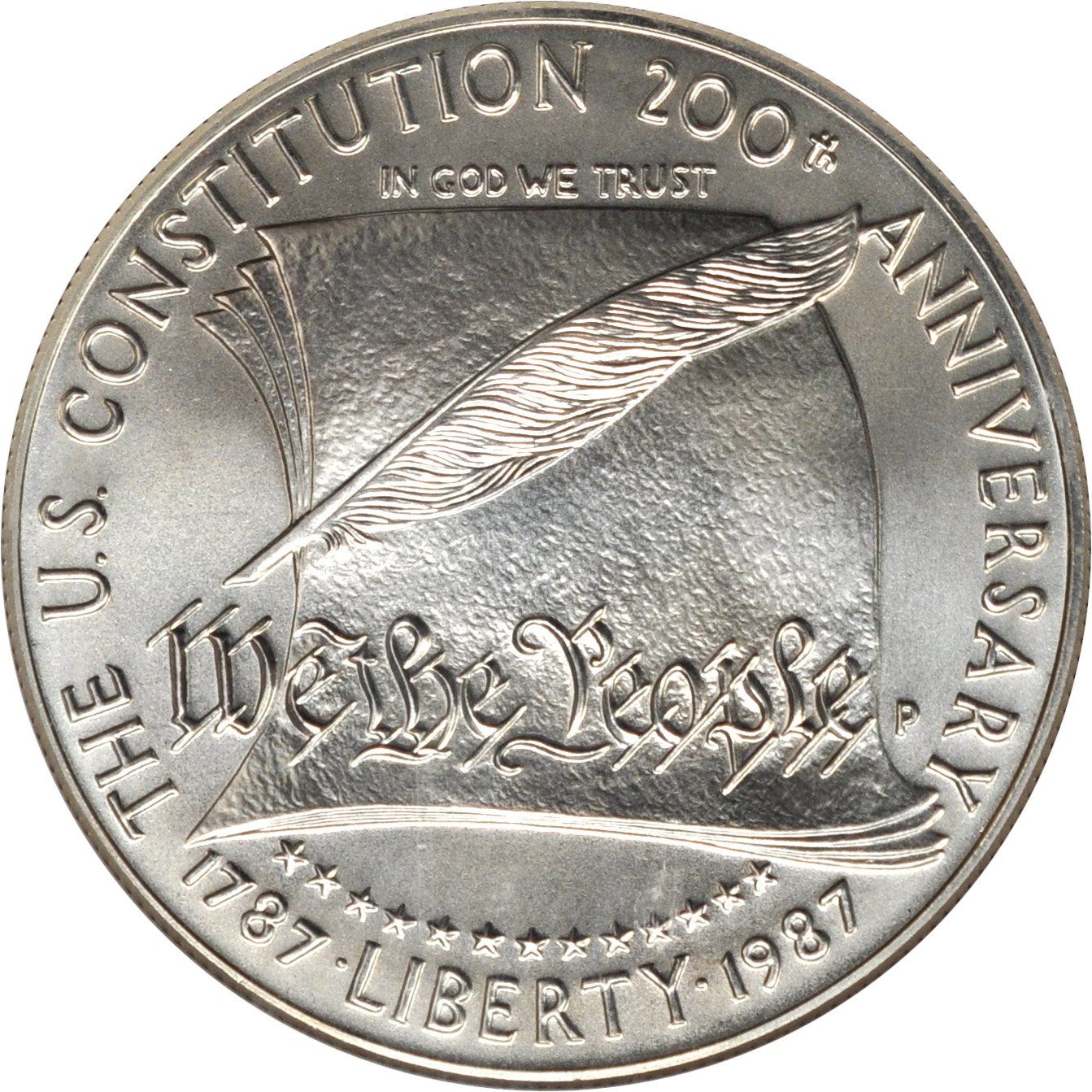 Value Of 1987 1 Constitution Silver Coin Sell Coins