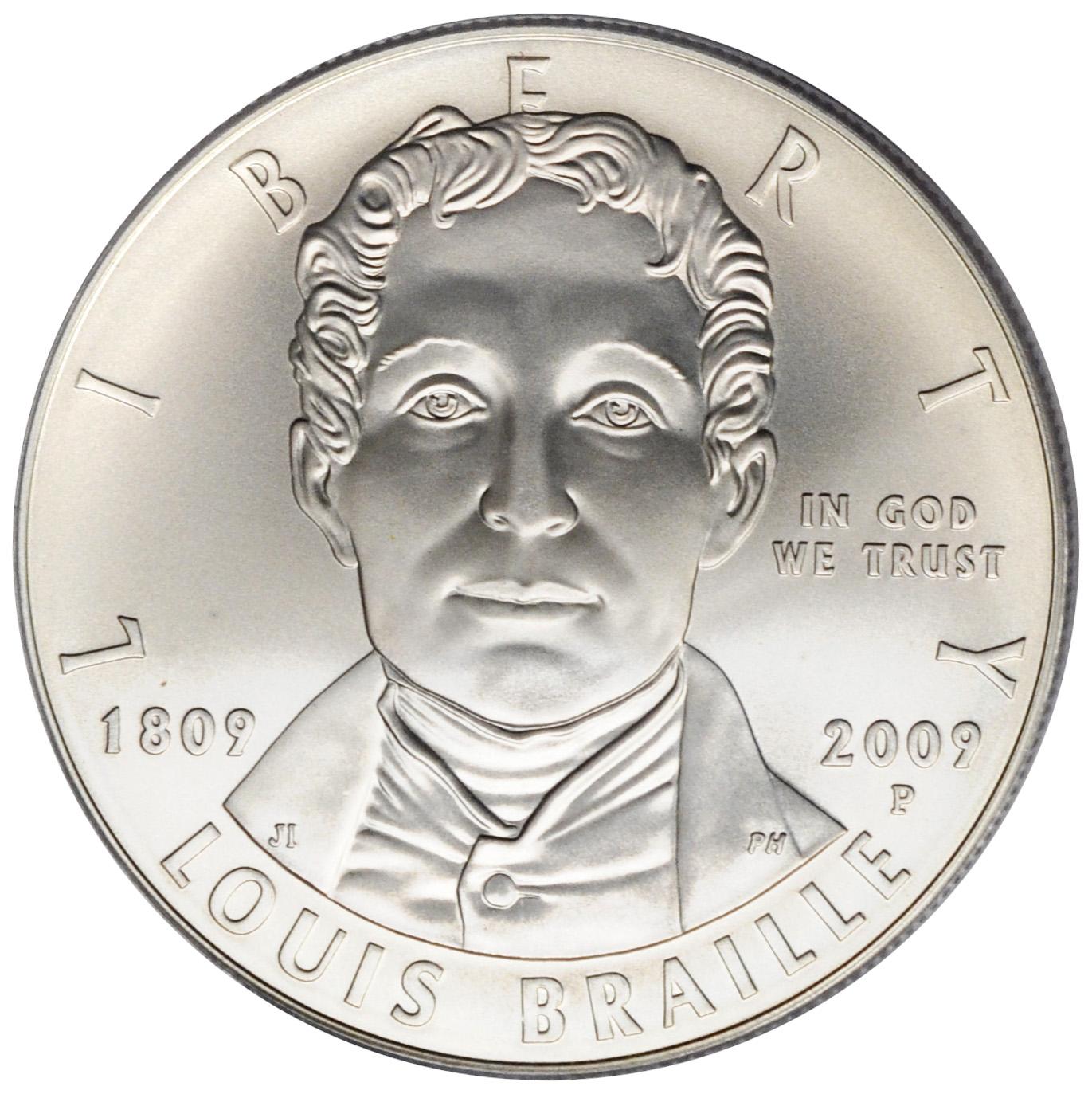 louis braille coin