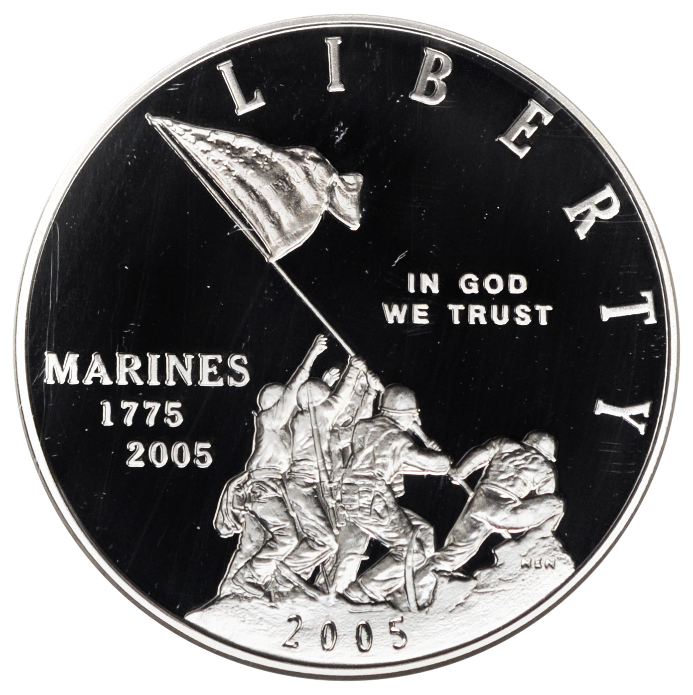 Value of 2005 $1 Marine Corps Silver Coin | Sell Coins