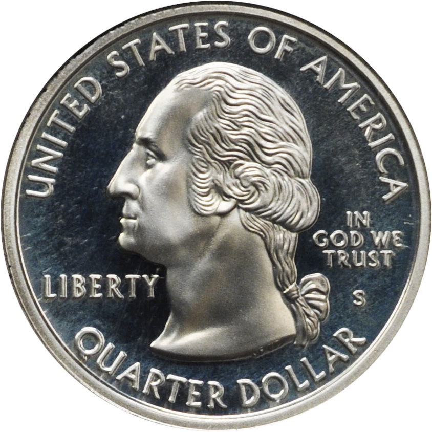 1999 90/% Silver Connecticut State Quarter