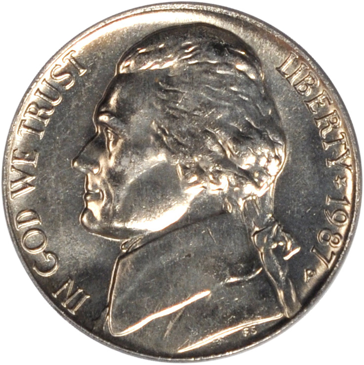 1987-P Jefferson Nickel | Sell & Auction Modern Coins