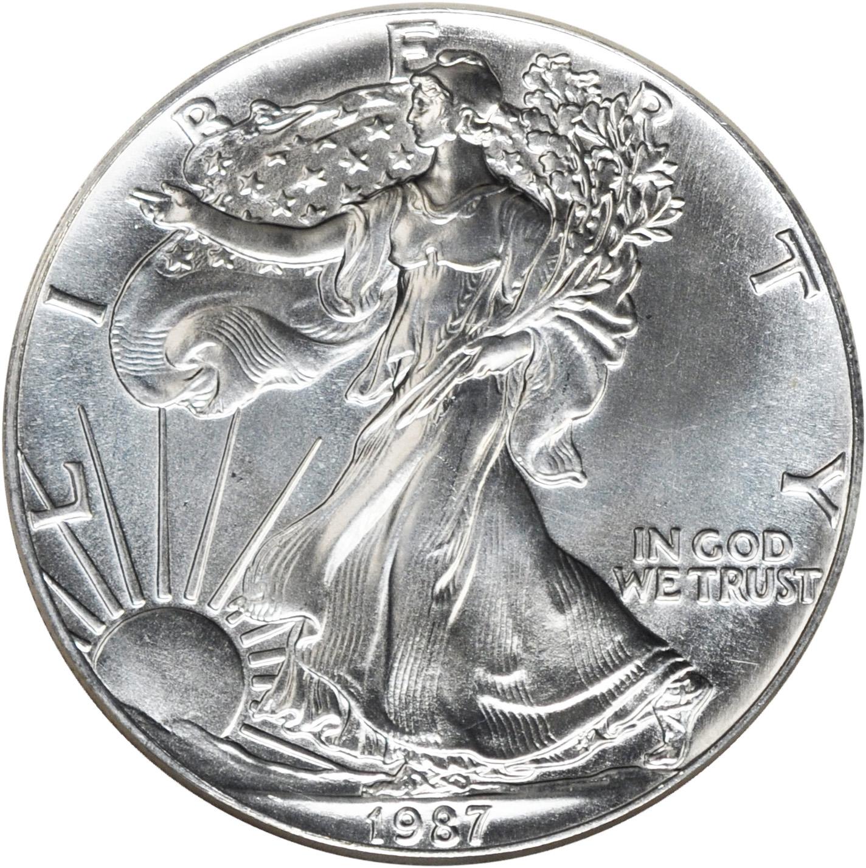 1987 Walking Liberty Silver Dollar Value Chart Walking