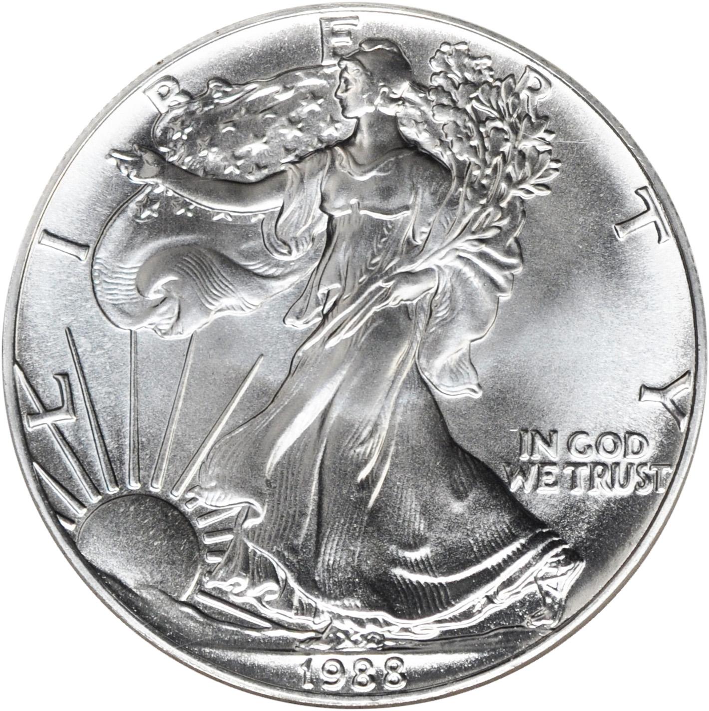 Value Of 1988 1 Silver Coin American Silver Eagle Coin