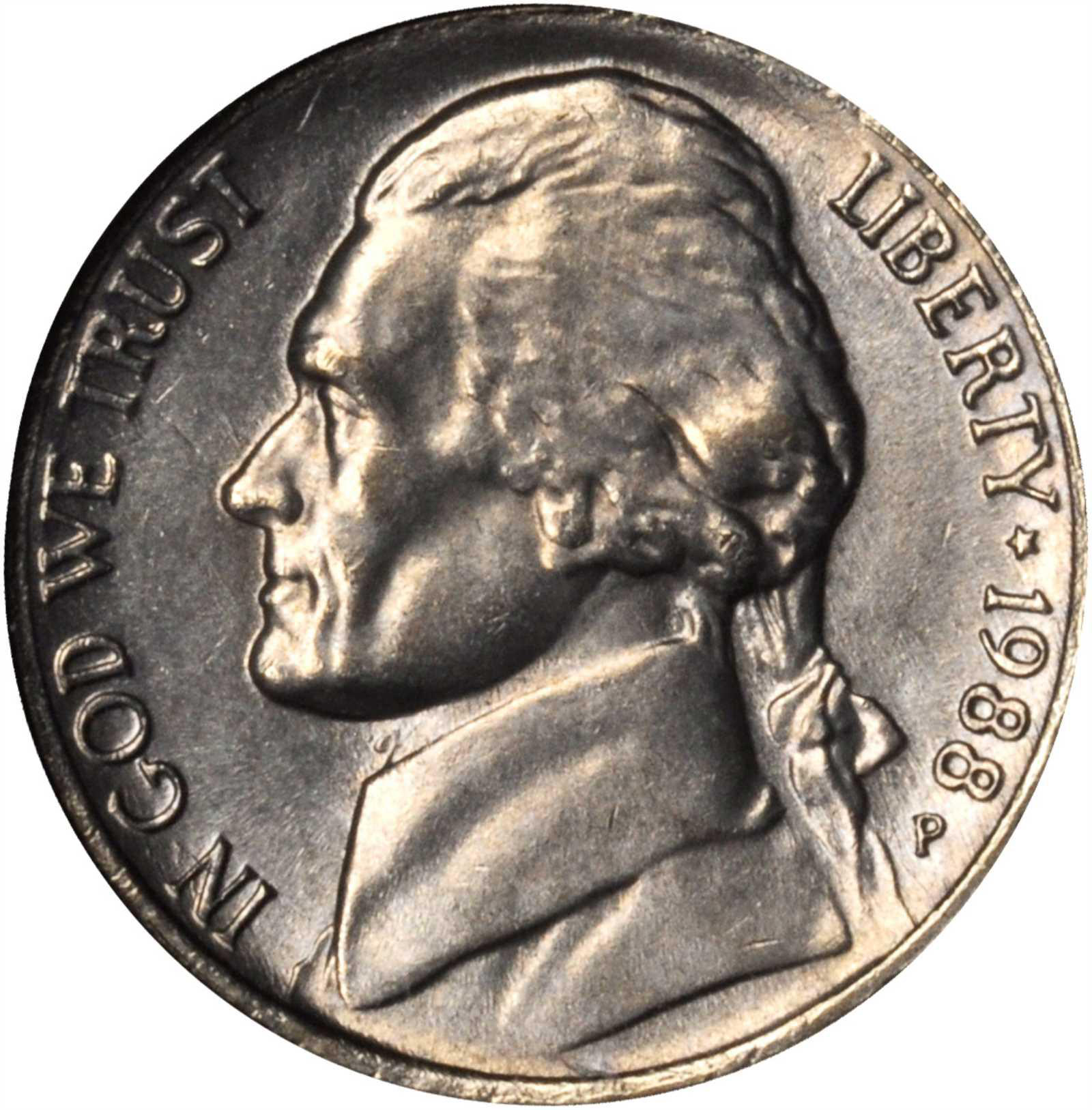 1988-P Jefferson Nickel | Sell & Auction Modern Coins