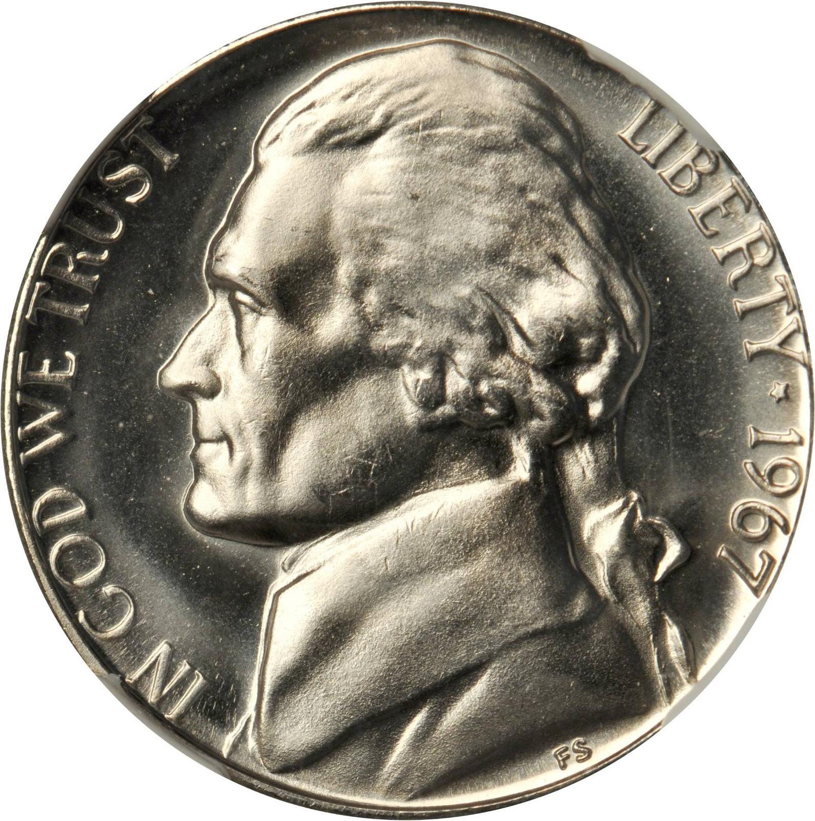 1967 Jefferson Nickel | Sell & Auction Modern Coins