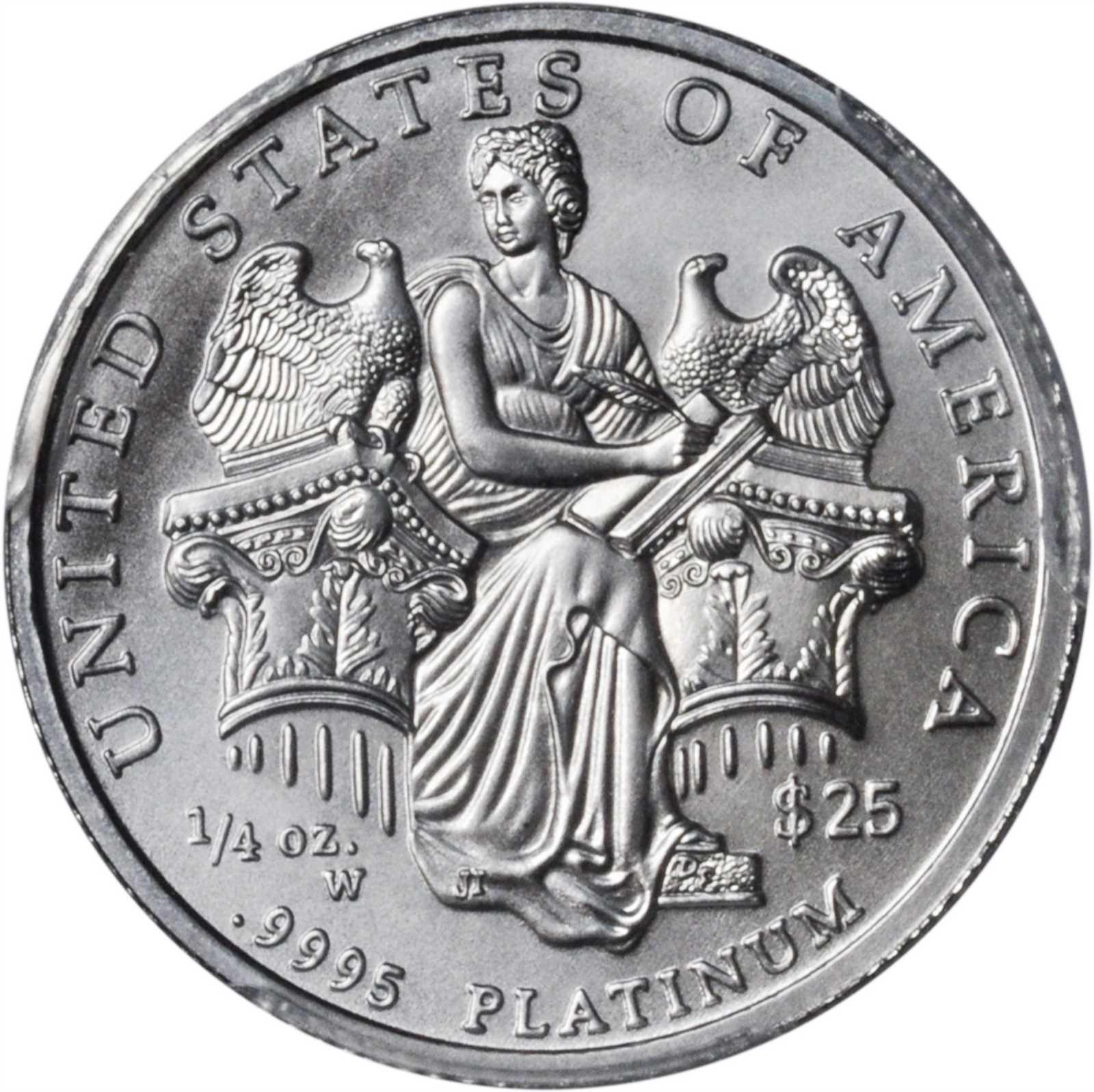 features symbolizing young carrying the her hope promise lady america pin perfection torch coin of platinum in s reverse liberty and
