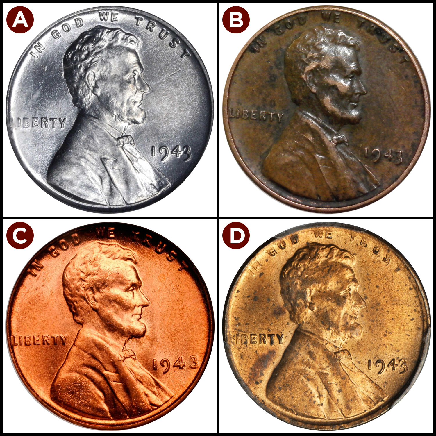 The Truth About 1943 Steel and Bronze Copper Wheat Penny Values