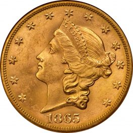 Value Of 1865 S 20 Liberty Double Eagle Sell Rare Coins