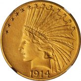 Indian Gold Eagle (1907-1933) Image