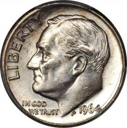 Value of 1964-D Dime | Sell and Auction, Rare Coin Buyers