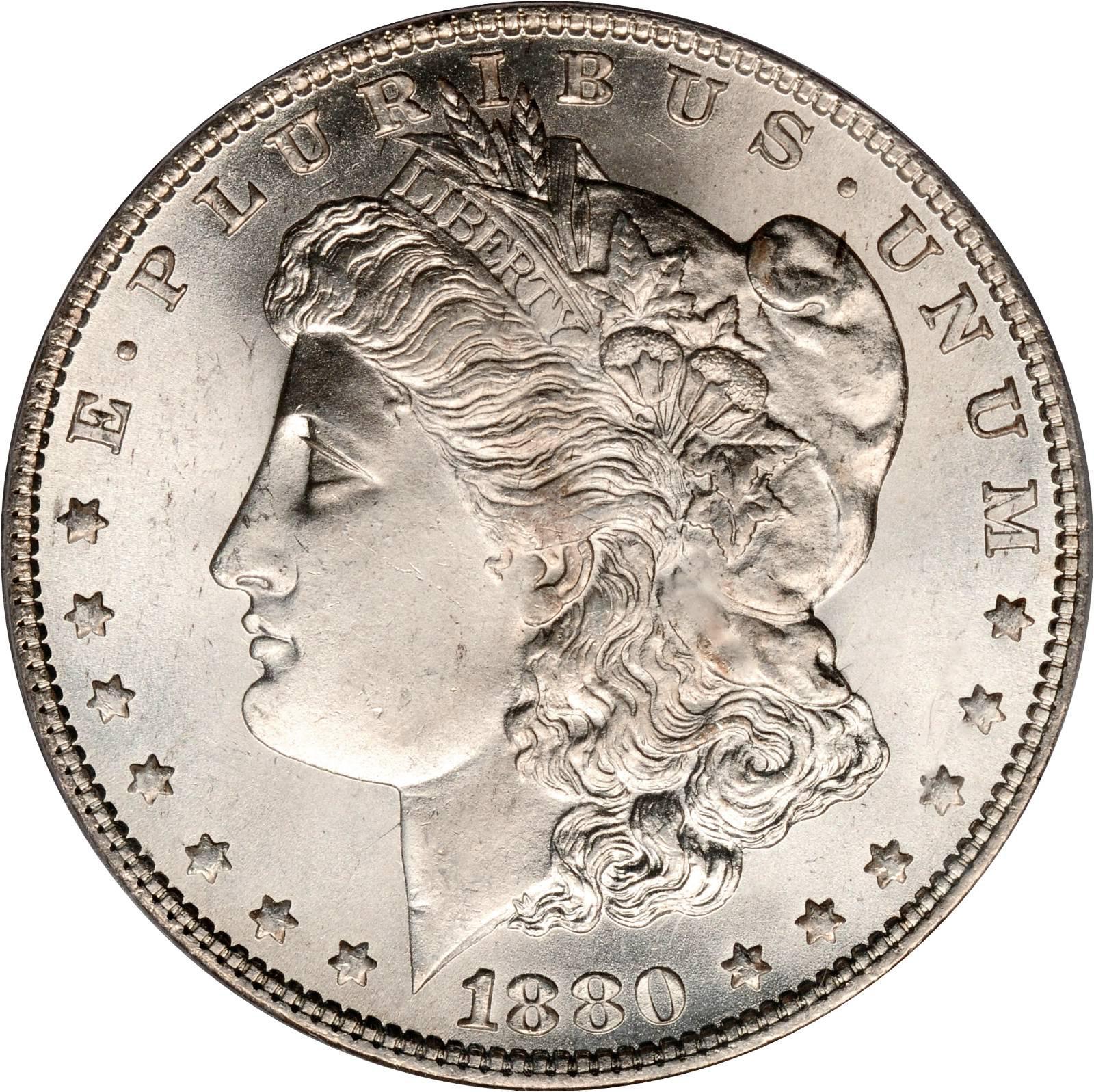 1880 O Morgan Silver Dollar $1 Very Good