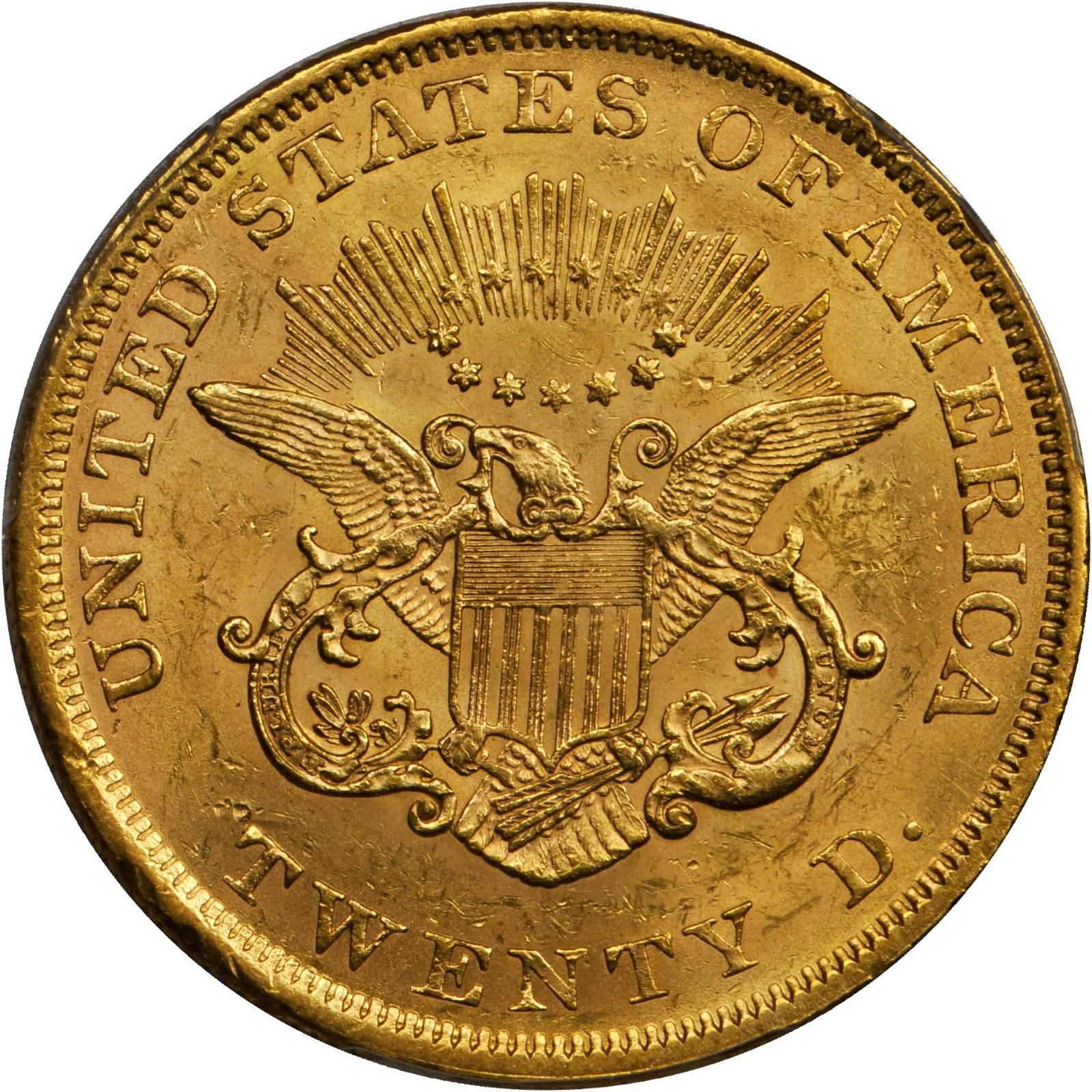 Value Of 1852 20 Liberty Double Eagle Sell Rare Coins