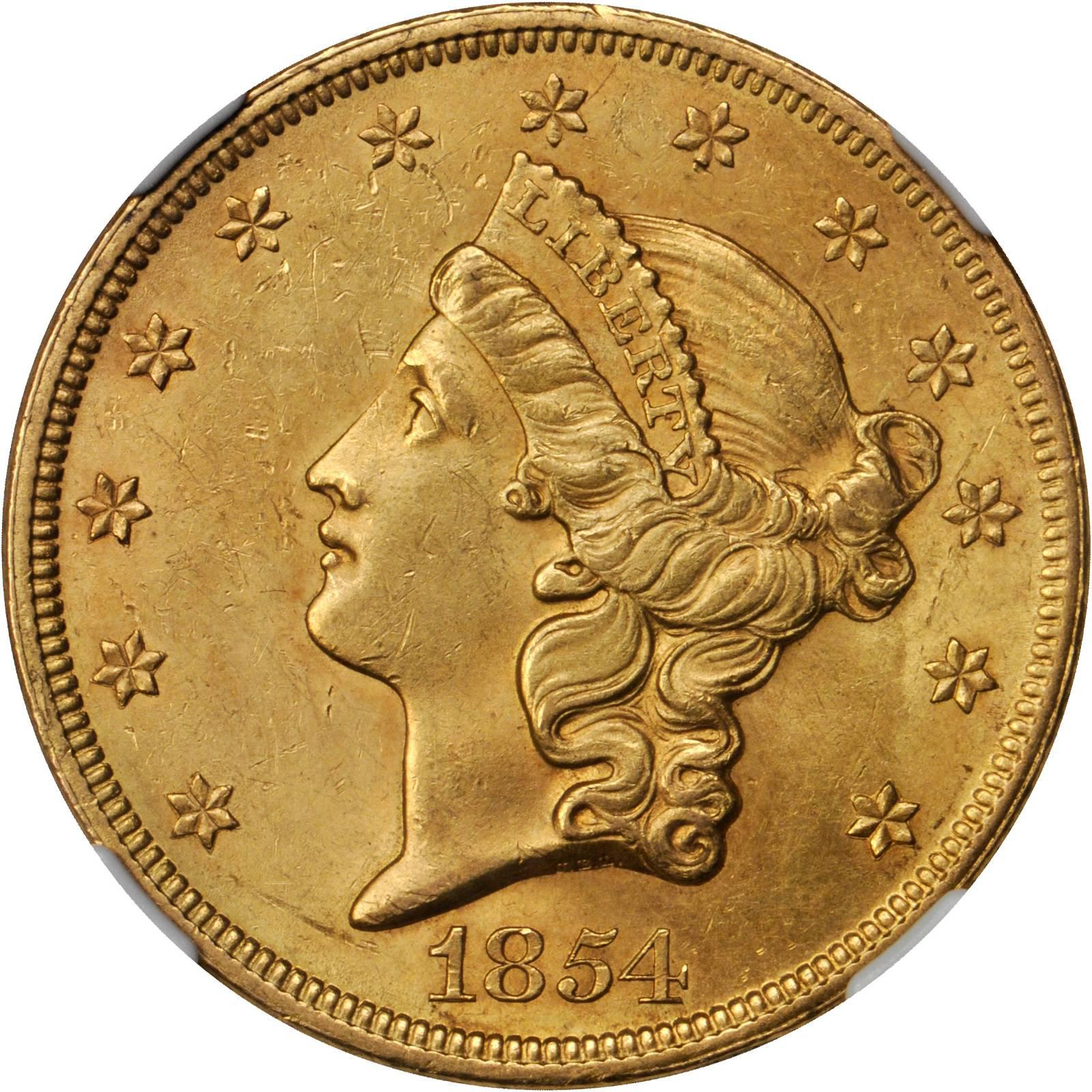 Value Of 1854 20 Small Date Gold Coin Liberty Double Eagle